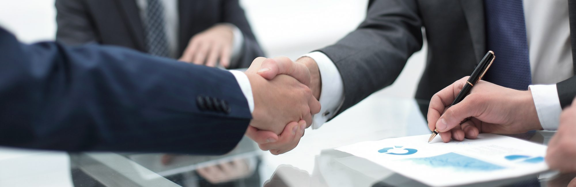 close up of handshake agreement